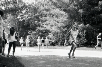 Girls, on the run, literally.